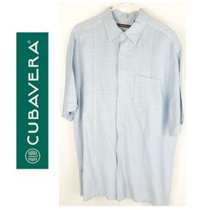 Cubavera Mens Collared Casual Front Button Shirt